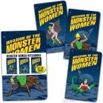 Monster Women Set Of 3 Notebooks