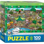 100 Piece Puzzle - A Day at the Zoo - Spot & Find