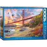 1000 Piece Puzzle - Sunset at Baker Beach by Dominic Davison