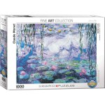 1000 Piece Puzzle - Waterlilies by Claude Monet