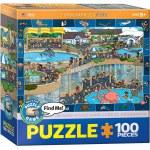 100 Piece Puzzle - Crazy Aquarium - Spot & Find