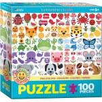 100 Piece Puzzle - EMOJIColors - Emojipuzzles