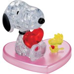 Bepuzzled - Crystal Puzzle - Snoopy and Woodstock Heart