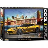 1000 Piece Puzzle - Out for a Spin - 2015 Corvette Z06
