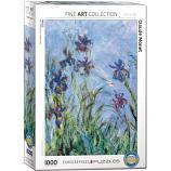1000 Piece Puzzle - Irises by Claude Monet