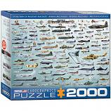 2000 Piece Puzzle - Evolution of Military Aircraft