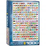 1000 Piece Puzzle - Flags of the World
