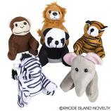 "(Dozen) 5"" Plush Zoo Animal"