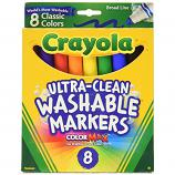 8 ct. Ultra-Clean Washable Classic, Broad Line, Color Max Markers